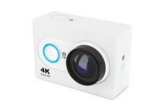 Small Ultra HD Action Camera. 3d Rendering Royalty Free Stock Photo