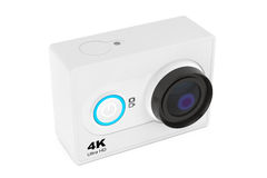 Small Ultra HD Action Camera. 3d Rendering Royalty Free Stock Images