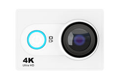 Small Ultra HD Action Camera. 3d Rendering Royalty Free Stock Photography