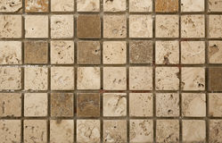 Small unfilled travertine mosaic Stock Photos