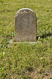 Small Unmarked Headstone Royalty Free Stock Photography