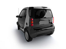Small urban black car back view Stock Image