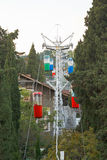 Small urban cable way to Darsan Hill in Yalta city Stock Photography