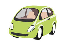 Small Urban Smart Car. An illustration of a stylish red sportscar Royalty Free Stock Photo
