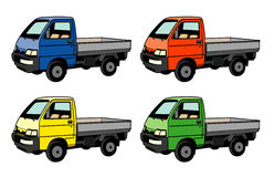 Small utility vehicles Royalty Free Stock Photography