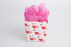 Small Valentine gift box Stock Photography