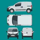 Small Van Car. Isolated car, template for car branding and advertising.  Stock Photography