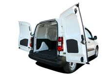 Free Small Van With Rear Doors Opened Stock Photo - 174650330