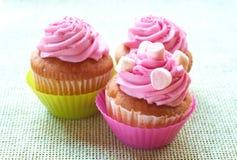 Small Vanilla Cupcakes Stock Photos
