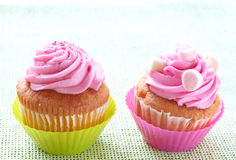 Small vanilla cupcakes Royalty Free Stock Photo