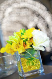 A  small vase of flowers. Stock Images