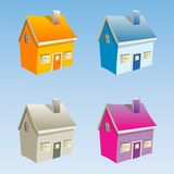 Small vector houses Royalty Free Stock Photo