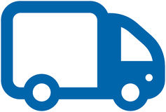 Small Vector Truck. Simple vector illustration on white background Royalty Free Stock Photography