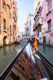Small venetian canal, Venice, Italy. Small venetian canal and old brick houses in Venice, Italy Royalty Free Stock Photos