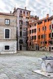 Small Venetian Square. Italy. Small square in Venice, Italy Stock Photography