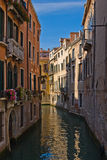Small Venice Channel. Between the Buildings Stock Image