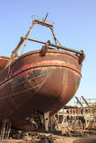 Small vessels in a shipyard Stock Images