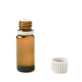 Small vial flask isolated Royalty Free Stock Images