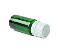 Small vial flask isolated Stock Photo