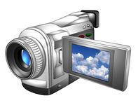 Small video camera on white Royalty Free Stock Image