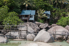Small villa on the beach Royalty Free Stock Images