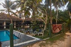 Small Villa with swimming pool in Sri Lanka royalty free stock photos