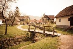 Small Village. In Croatian countryside - Kumrovec Stock Photo
