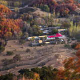 A small village. Bird view of a small village in Suizhong, northeast China Stock Photography