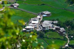 Small village. This village is near the most holy place of tibet (China Royalty Free Stock Photos