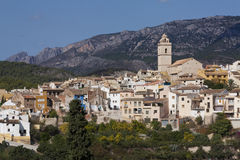 Small village. A view of the small village of Polop in Alicante, Spain Stock Photos
