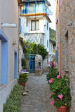 Small village alley Stock Image