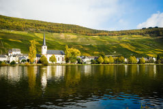 Small village along the mosel stock photography
