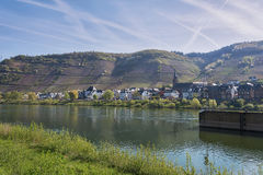 The small village along the Mosel River. Germany Stock Photography