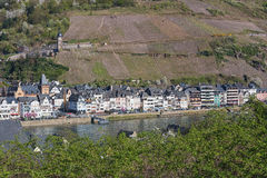 The small village along the Mosel River. Germany Stock Photos