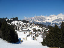 Small village in alps Stock Photo