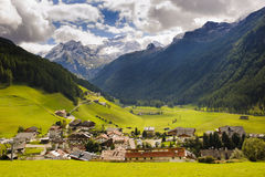 Small village in alps mountains Royalty Free Stock Photo