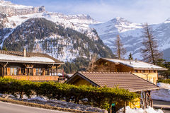 Small village in Alps Stock Photography