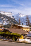 Small village in Alps. Small village in swiss Alps, Switzerland Royalty Free Stock Images