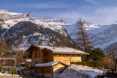 Small village in Alps Royalty Free Stock Image