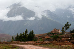 Small village in the Andes. Stock Image