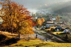 Small village in autumn Carpathian Royalty Free Stock Photos
