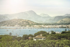 Small village in a bay. On Majorca Royalty Free Stock Photography