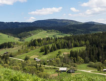 Small village in beautiful Carpathians, Ukraine Stock Photos