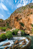 Small village Blagaj on Buna spring. And waterfall in Bosnia and Herzegovina Stock Images