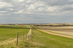 Small village of Canadian Prairies Stock Image
