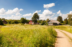 Small village in central Russia in sunny summer day Royalty Free Stock Photos