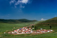 Small Village in China Stock Photo