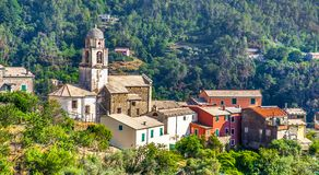 Small village in Cinque Terre National Park Liguria royalty free stock photography
