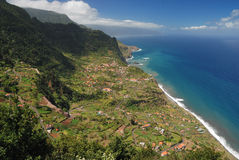 Small village at coast of madeira, portugal Royalty Free Stock Images