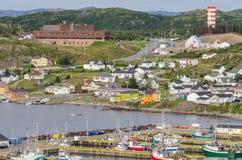 Small village community, Twillingate, Newfoundland. Stock Image